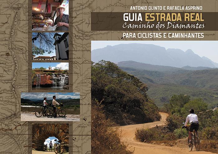 Capa do Guia Estrada Real Caminho dos Diamantes; estrada real de bike; estrada real a pé